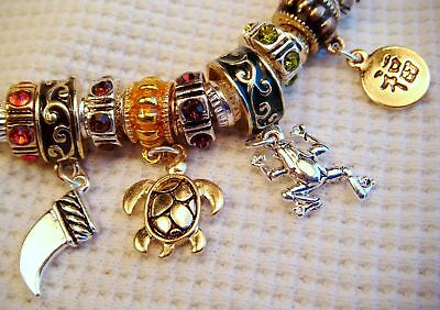 Lucky Theme Euro Charm Slider Bracelet - 8 Inches