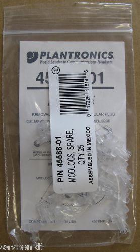 5 x Plantronics Modlocs Pack Of 25 45588-01