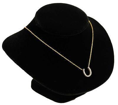 6 18 Black Velvet Pendant Necklace Jewelry Display