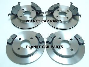 FORD-FOCUS-FRONT-REAR-BRAKE-DISCS-AND-PADS-SET-NEW-MK1-1998-2004
