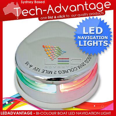 12V S/S LED BI-COLOUR WATERPROOF BOAT NAVIGATION LIGHT