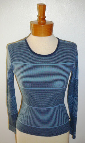 TOMMY JEANS KNIT TOP~Long Sl~Blue Stripe~Girls Size Med.~FREE SHIP