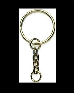 20-x-SPLIT-RING-METAL-KEYRING-SHORT-KEY-CHAINS-FINDINGS