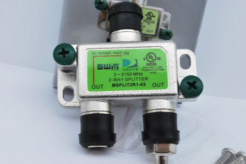 Lot 10 Zinwell Msplit2r1-03 2-way High Frequency Swm Splitter Green Label