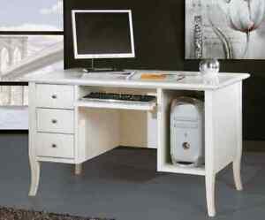 Scrivania scrittoio ufficio porta computer bianco ebay for Scrittoio per ufficio