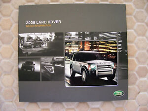 LAND ROVER LR2 LR3 RANGE ROVER PRESS KIT BROCHURE 2008