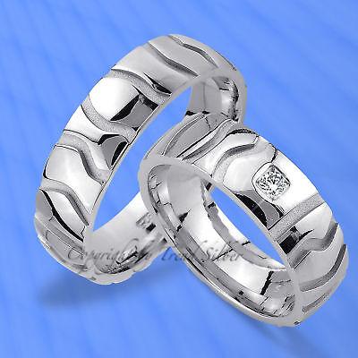 Trauringe , Eheringe Mit Diamant , Silber 925 -- J96-1