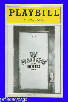 Playbill + The Producers + Roger Bart , Richard Kind , John Treacy Egan