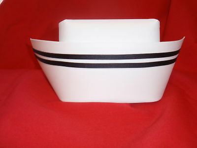 Authentic Nurse Cap With Two Black Stripes Style