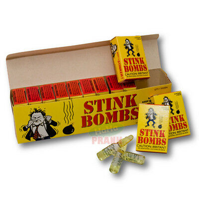 1 Case Of Stinky 36 Glass Stink Bombs - Stinky Gag Fart Prank