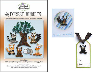 Forest Buddies Quilling Kit-quilled Paper Craft-animals