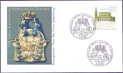 BRD 2001: Hofkirche Dresden! FDC der Nr 2196 mit Berliner Ersttagsstempeln! 1612