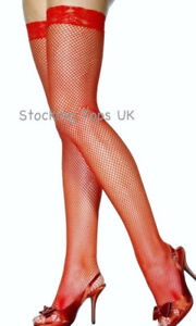 LACE TOP FISHNET STOCKINGS XL PLUS SIZE 18 20 22 24 26