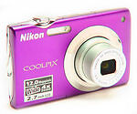 Nikon COOLPIX S3000 12.0 MP Digital Camera - Plum