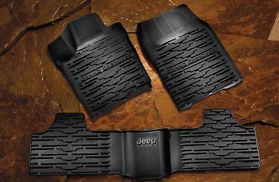 2013 2014 2015 Jeep Grand Cherokee Slush Style Winter Mats Rubber Floor mats