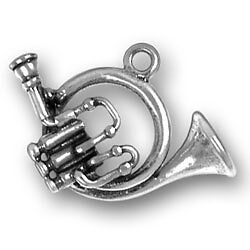 Sterling Silver Musical Instruments & Music Notes Charm