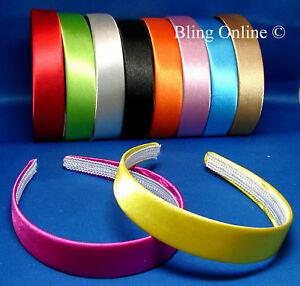 NEW-2-5cm-WIDE-SATIN-LOOK-FABRIC-COVERED-ALICE-HAIR-HEAD-BAND-HEADBAND-ALICEBAND