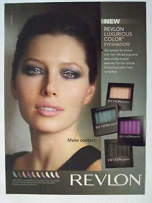2010 Revlon Eyeshadow Jessica Biel Magazine Print Advertisement Page H