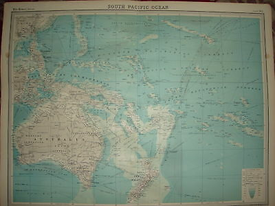 1920 LARGE MAP SOUTH PACIFIC OCEAN ROUTES etc 23