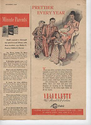 1948 Print Ad of Velvelette Cone Export & Commission Co New York