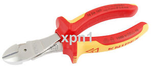 Knipex-74-06-160-VDE-Insulated-High-Leverage-Side-Cutters-160mm-Chrome-Plated