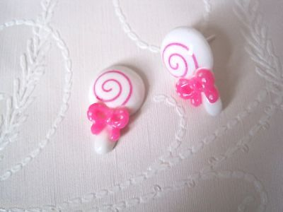 *CUTE LOLLIPOP SWEET* Stud Earrings Rockabilly Gift