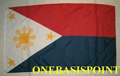 3'x5' Philippines National Flag Outdoor Banner Filipino Three Stars And Sun 3x5
