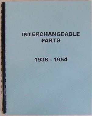 1950 1951 1952 1953 1954 Interchange Parts Plymouth