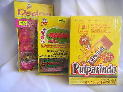 3pack Dedo Indy Hormigas Indy& Pulparindo Mexican Candy