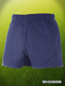 Engage-Rugby-Cotton-Drill-Navy-Shorts-Sizes-30-44
