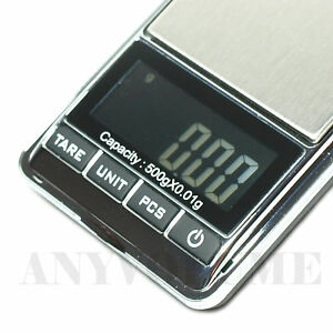 500-x-0-01g-Digital-Pocket-Scale-Gold-Jewelry-Reload-Grain-Counting