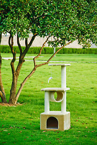 42-CAT-TREE-CONDO-FURNITURE-SCRATCH-POST-PET-HOUSE-22B-Beige