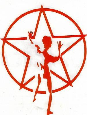RUSH STARMAN PEEL AND RUB ON RED VINYL DECAL !