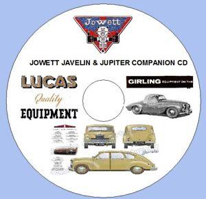JOWETT JAVELLIN, JUPITER COMPANION CD Inc.rare 1948 LUCAS SPARES LIST