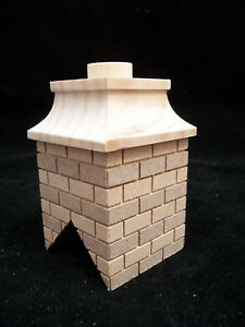 Chimney-8-brick-miniature-dollhouse-wooden-2408-1pc-1-12-scale-Houseworks