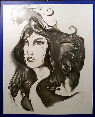 Ernesto Archuleta Original Art Pencil Graphite Drawing Art Artwork Sumbit Offer!