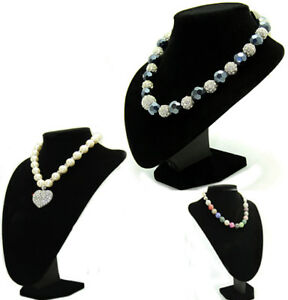 Black-Velvet-Jewellery-Bust-Necklace-Display-Stands
