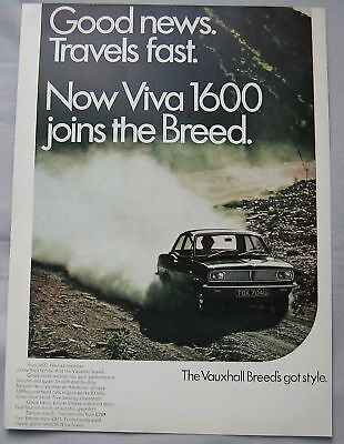 1968 Vauxhall Viva 1600 Original advert