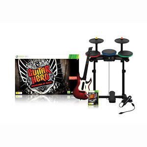 Xbox 360 Guitar Hero Warriors of Rock Super Band Bundle *Guitar+Drums+Game+Mic*