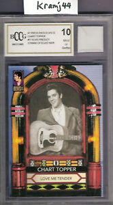 ELVIS-PRESLEY-HAIR-STRAND-RELIC-GRADED-BECKETT-10-LOVE-ME-TENDER-CARD-THE-KING