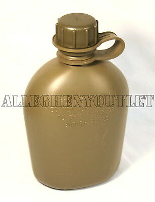 NEW, US MILITARY 1 QUART PLASTIC CANTEEN USGI, OD GREEN