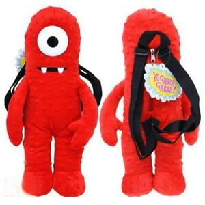 YO-GABBA-GABBA-PLUSH-BACKPACK-MUNO-RED-SOFT-DOLL-BAG-FIGURE-18-19-LICENSED-NEW
