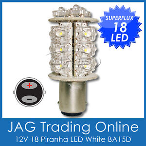 18-LED-WHITE-FLUX-BA15D-BOAT-ANCHOR-STERN-MARINE-LIGHT