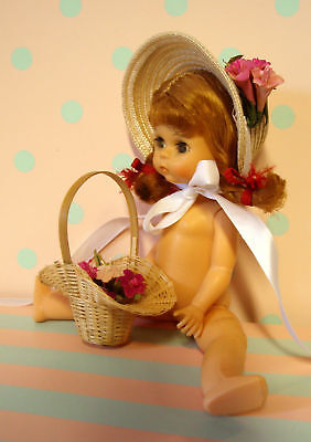 "Madame Alexander 8"" Doll STRAW HAT & BASKET on Rummage"