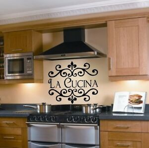 La cucina kitchen wall decal italian decoration sticker for Stickers cucina