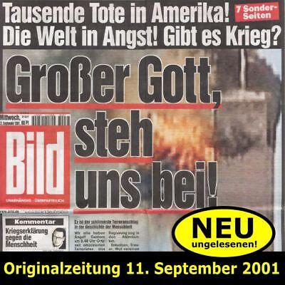 RARITÄT: 9/11 Original BILD-Zeitung 11.September 2001 WTC (Erscheinung 12.9.2001
