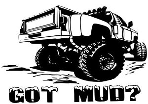 4x4 Off Road Monster Truck Custom V8 Decal Sticker