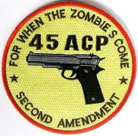 1911 Colt 45 Embroidered 4 Inch IRON-ON Military Weapons Crest/Patch/Appliqué