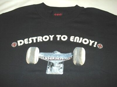 New Independent Trucks Co Skate Destroy To Enjoy Tee T Shirts Code E
