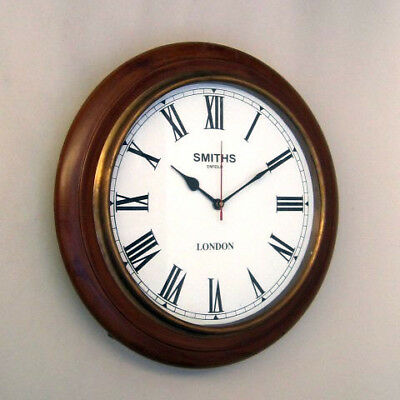 "часы интерьерные Beautiful Vintage 16"" Marine Wall Clock Smiths London"